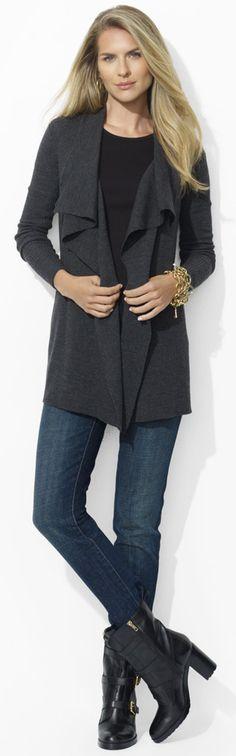 Ralph Lauren Ruffled Wool Cardigan - half price #ralph lauren