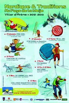 VILLAR D'ARENE - Nordique et Traditions au Pays de la Meije  >> 20 février - 17h30 – Concours de chapeau -  Place de Villar d'Arène  >> 26 février  - 20h30 – Balade au clair de lune sur le site d'Arsine – En raquettes ou en ski de fond  >> 27 février : Tir à l'arc – Place de Villar d'Arène