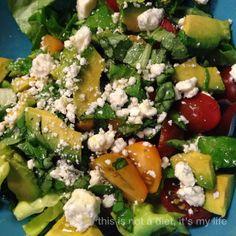 Avocado Gorgonzola Lemon Basil Salad