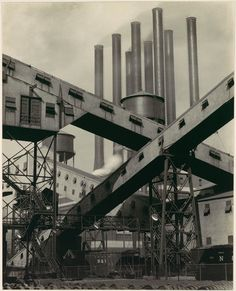 Charles Sheeler, Criss-Crossed Conveyors, River Rouge Plant, Ford Motor Company, 1927