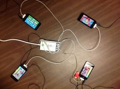 """""""This product is heaven sent!!!!! My students are able to work on iPods & iPads without extension cords and power surges! It is such an easy way to keep devices charged and have a safer environment for my students."""" wrote Tamara Hannibal, Edward E. Taylor Elementary, SC."""