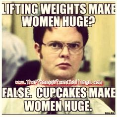 Pump some iron today ladies! Your body will thank you!!