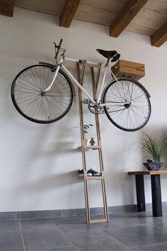 Classy indoor bike rack