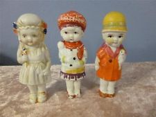 Penny Doll   Antique Bisque girls  JAPAN