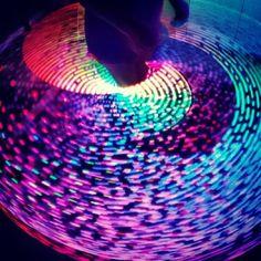 LED hula hoop...I NEED to learn to make these!!!