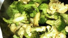 Number of Servings: 4 Serving Size: Ingredients: 2 tsp Sesame Oil 1 1/3 cups Broccoli florets 1 1/3 cups Cauliflower florets 1 large Red Pepper 1/3-cup low-sodium chicken broth, more if needed 1 tsp Minced or chopped Garlic (Minced Garlic...