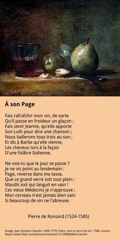 Pierre de Ronsard - À son page