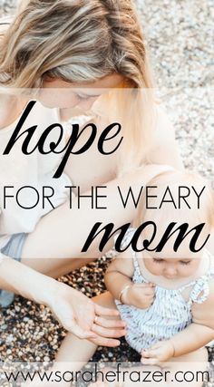 Are you a weary mom and in need of hope to encourage your motherhood journey? Don't miss this powerful message of hope for moms to remind you that God sees you and will restore your weariness. Hope for the weary mom is found in Jesus- come see how! Best Mother, Best Mom, Raising Godly Children, Message Of Hope, Christian Women, Christian Living, Finding God, Christian Parenting, Life Is Hard