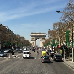 Champs Elysees and the Arch de Triomphe