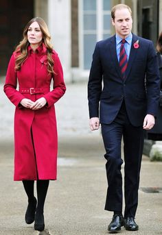 Kate Middleton looked amazingly slim at a London Poppy Day event with Prince William at Kensington Palace in London -- see the latest photos