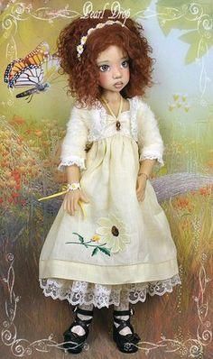 """""""Yellow is for HOPE-2"""" vintage OOAK 4 Kaye Wiggs MSD BJD Dollstown 7 *VERA"""