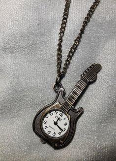 Kup mój przedmiot na #vintedpl http://www.vinted.pl/akcesoria/zegarki/18545301-wisiorek-naszyjnik-gitara-zegarek