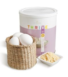 Whole Egg Powder - Great to have on hand!! - THRIVE Food Storage.