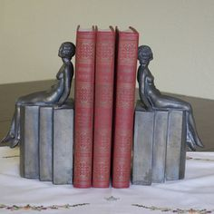 Art Deco Period Figural Bookends now featured on Fab.