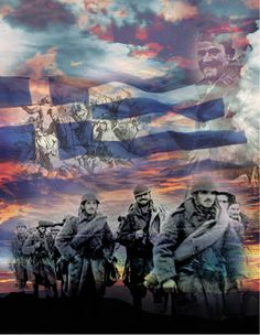 How Australia's media perceived Mussolini's ultimatum to Greece and 28 October the day we said OXI! Greek Flag, Greek Culture, Army & Navy, Athens Greece, Ww2, Greeks, History, Painting, Fictional Characters