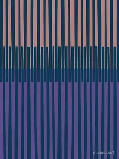 """OVERLAPPED, blues, purples"" by Paul Allitt for mapmapart 