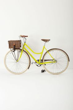 "Signal Cycles Picnic Bike - Anthropologie.com    ""Seriously who wouldn't want a yellow bike with a picnic basket""  LOVE!  #Anthropologie #PinToWin"