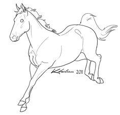 Sport Horse Lineart by Kholran.deviantart.com on @DeviantArt