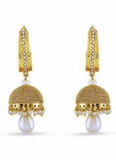 Red, Beige & Gold Color Artificial Jewellery Earrings