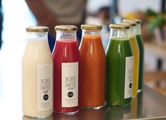 The Most Popular Paris Juice Bar.  Went to a place like this in San Diego where they made fresh juices every morning and sold them in glass cups with lids.  Still using my glass cups.