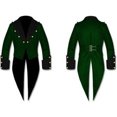 Mens WEDDING Tailcoat Steampunk Gothic Victorian GREEN Swallowtail... (61 CHF) ❤ liked on Polyvore featuring men's fashion, men's clothing, men's outerwear, men's coats, mens green sport coat, mens gothic coats, mens victorian coat and mens coats