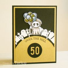 Over The Hill! by Torico - Cards and Paper Crafts at Splitcoaststampers There She Goes, Men's Cards, Over The Hill, Creative Cards, I Card, Card Ideas, Challenges, Paper Crafts, Tags