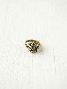 Dree Eternal Ring, Distressed Turquoise w/ brass encasing