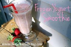 Frozen Yogurt Smoothies #smoothie #fruit #yogurt