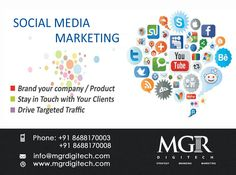 Social Media Marketing : Social media  Marketing increases sales and customer retention through regular interaction and timely customer service.  MGR DIGITECH offer Social Media Marketing Services  For more details Contact us today : Contact: Phone: +91 8688170003 +91 8688170008 Email-Id:info@mgrdigitech.com Website:www.mgrdigitech.com  #MGR, #MGRDigitech, #Digital, #OnlineSales, #DigitalSolutions, #SocialMediaMarketing