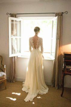 El encanto de la manga larga | Preparar tu boda es facilisimo.com