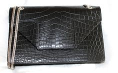 Yves Saint Laurent Shoulder Bag - Beautiful black crocodile will never go out of style.