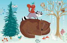 Roger la Borde | Festive Critters Christmas Notecard Pack (8 cards)