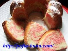 Rețetă de chec marmorat, făcut din albușuri Sweets Recipes, French Toast, Muffin, Breakfast, Food, Fine Dining, Morning Coffee, Eten, Cupcakes