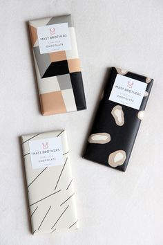 Modern geometric chocolate #packaging design for Mast Brothers Chocolate | Brooklyn, NY