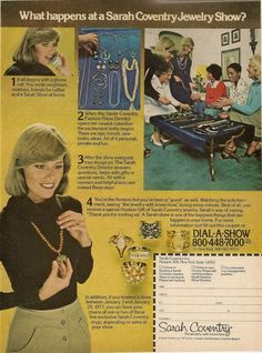 What Happens at A Sarah Coventry Show 1977 Magazine Print Ad | eBay