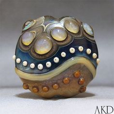 I thought it was a sculpture at first    SRA Handmade Lampwork Focal Bead Glass Artisan by AKDlampwork, $48.00