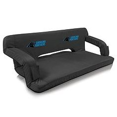 Picnic Time Carolina Panthers Reflex Portable Reclining Travel Couch
