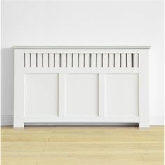 Wilton Radiator Cabinet Cover - Smooth White - (W)150 x (H)90 x (D)20cm