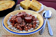 Mommy's Kitchen - Old Fashioned & Southern Style Cooking: Miss Kay's Pinto Beans & Sausage + {Slow Cooker Recipe}
