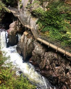 This Wooden Staircase Near Ontario Will Take You Past A Rushing Waterfall - Narc. - Ontario Getaways - THE Travellers Oh The Places You'll Go, Places To Travel, Places To Visit, Vacation Destinations, Vacation Spots, Vacations, Vacation Ideas, Ontario Travel, Toronto Travel