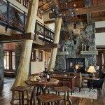 #TimberFrameTuesday  www.tetonheritagebuilders.com  Elk Ridge Lodge Great Room