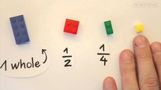 Learning fractions using Legos