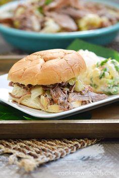 Instant Pot Kalua Pork Sandwich | cookingwithcurls.com