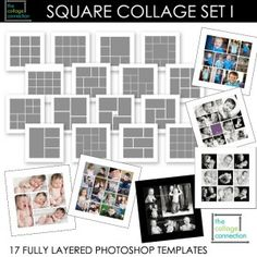 photo storyboard template 20x20 inches psd digital scrapbooking photographer frames instant. Black Bedroom Furniture Sets. Home Design Ideas