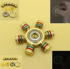Brass Hand Spinner Fidget Ceramic Ball Desk Focus Toy EDC For Kids/Adults New BP