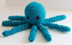 Blue Octopus for a Preemie