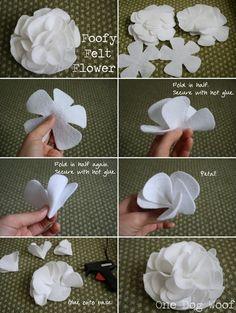 DIY Bloemen van Vilt