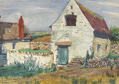 Old-Barn on Foynes Island, Limerick, Eire, (1930) | Harry Kernoff RHA (1900-1974)
