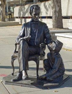 'President Abraham Lincoln' ~~ The City of the Presidents, Rapid City, South Dakota.