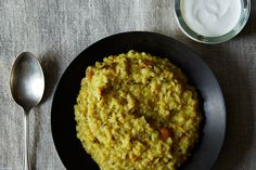 Savory 'Venn Pongal' (South Indian Style Rice & Mung Bean Risotto)